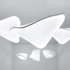 Lustre en toile tendue Barrisol design de Ross Lovegrove Création