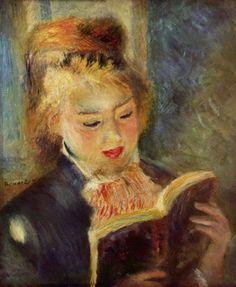 Pierre Auguste Renoir    Kitap Okuyan Genç Kız / The Reader    1875-1876. Tuval üzerine yağlıboya. 45 x 37 cm. Musée d'Orsay, Paris.