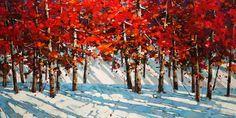 Autumn Birches, by Min Ma