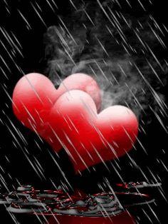 hearts under rain gif Most Beautiful Wallpaper, Love Wallpaper, Heart Wallpaper, Animated Heart, Animated Gif, Rainy Night, Rainy Days, Coeur Gif, Corazones Gif