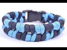 """Paracord Bracelet """"Barbed Wire"""" Design - How To Video - BoredParacord - YouTube"""