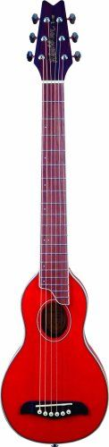 Washburn RO10TR Rover Steel String Travel Acoustic Guitar - Transparent Red - http://www.learntab.com/guitar-deals/washburn-ro10tr-rover-steel-string-travel-acoustic-guitar-transparent-red/