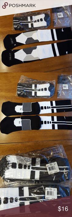 NIKE hyper elite socks 2 pair black and white Hyper Elite socks NIKE Underwear & Socks Athletic Socks