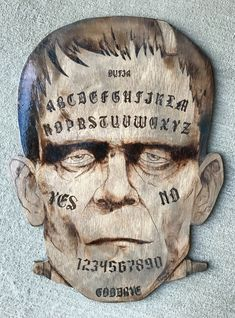 Excited to share this item from my shop: Frankenstein's Monster Ouija Board Ouija, Hybrid Moments, Witch Board, Frankenstein's Monster, Tarot Card Meanings, Guys And Dolls, Vintage Halloween, Happy Halloween, Witchcraft