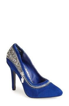 Equal parts badass and glam. Naughty Monkey 'All I Want Is You' Glitter Back Pump - $110
