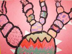 Grace4613's art on Artsonia.  Pattern cactus mixed media.  2nd grade