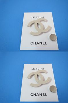 Pins and Brooches 50677: 1 X New Chanel Cc Logo Pin Brooch Magnetic Collectors + 48 White Ribbon BUY IT NOW ONLY: $75.0