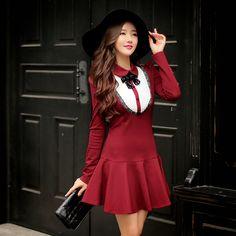9630ebd55 OP28122015D Red wine style. Vestido ...