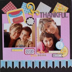 Thankful to be with Nona *Ruby Rock-It* - Scrapbook.com