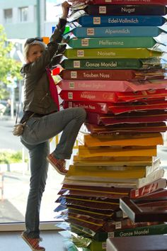 It's Ritter Sport chocolate promotion in my town. I'm on my way to chocolate heaven ;) <3