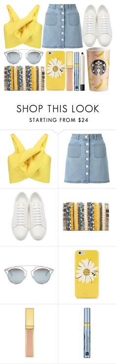 """street style"" by sisaez ❤ liked on Polyvore featuring Delpozo, Miss Selfridge, Yves Saint Laurent, Alice + Olivia, Christian Dior, Kate Spade, AERIN and Estée Lauder"