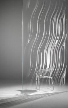 Liquidkristal glass wall | Ross Lovegrove