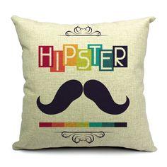 Funda cojín HIPSTER algodón 45x45 (Cojines y fundas)