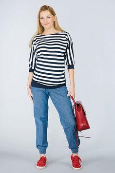 Pohodlné těhotenské rifle modré barvy Tops, Women, Fashion, Moda, Fashion Styles, Fashion Illustrations, Woman