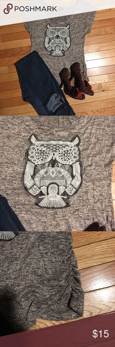 Too Cutest little owl top. Size XL Junior Tops Blouses