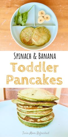 Spinach Pancakes, Banana Pancakes, Breakfast Pancakes, Healthy Breakfast Options, Delicious Breakfast Recipes, Baby Food Recipes, Snack Recipes, Healthy Recipes For Diabetics, Healthy Toddler Meals