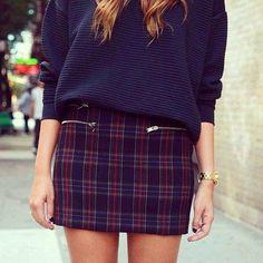 #tartán #prints #fashion #skirt