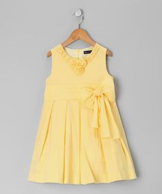 Take a look at this Light Yellow A-Line Dress - Toddler & Girls by Periwinkle on #zulily today!