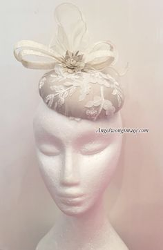 A personal favourite from my Etsy shop https://www.etsy.com/hk-en/listing/521014837/nude-cream-bridal-pill-box-hats-wedding