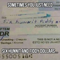 Six hunnit and fiddy dollars- this is why education is important