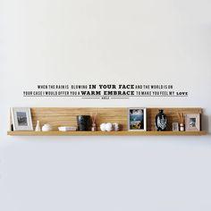 personalised song lyric vinyl wall sticker by oakdene designs | notonthehighstreet.com