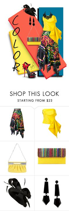 """""""PRIMARY COLORS"""" by judymjohnson ❤ liked on Polyvore featuring Peter Pilotto, Rubin Singer, Versace, NOVICA, Cara and Emporio Armani"""