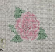 Pink Flower Handpainted Canvas by JudiesNeedlecraft on Etsy, $15.00