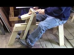 Shaving Horse from 2X4's - YouTube