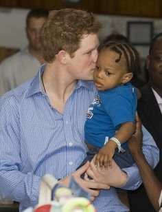 In January 2010, Prince Harry visited 2-year-old Tyrell Richards in the pediatric ward at the Queen Elizabeth II hospital in Bridgetown, Barbados.