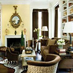 living room beauty! Love the animal prints