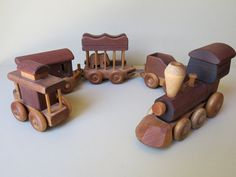 Vintage Wood Toy Train Set Merry Toymakers 397