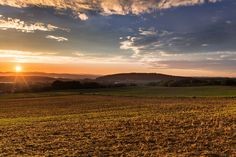#afterglow #back light #countryside #evening sky #fields #grassland #landscape #mood #sun #sunrise #sunset