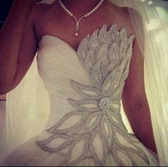 Known for his penchant for romance and eye for beauty, Darb Bridal Couture wedding dress designer and owner Brad Webb is the master of couture in Australia. Wedding Dresses With Flowers, Princess Wedding Dresses, Dream Wedding Dresses, Flower Dresses, Bridal Dresses, Wedding Gowns, Bling Wedding, Crystal Wedding, Wedding Bride
