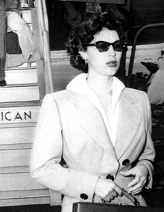 Ava Gardner flying American Airlines