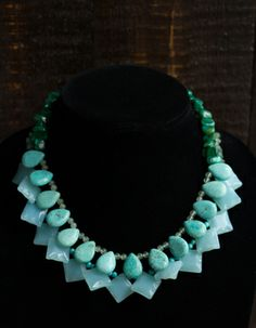 Mixed Stone Statement Necklace l wanderingroot.com
