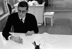 Yves Saint Laurent at Dior 1957 photo by Inge Morath