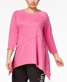 23dfa0613dd Calvin Klein Performance Plus Size Handkerchief-Hem Tunic - Pink 2X Tunics  Online