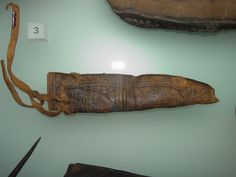 Small decorated knife sheath, 15th century. Museum of London #425