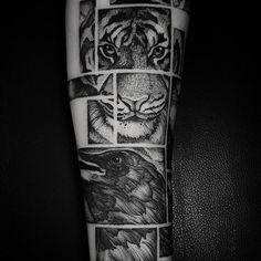 ✖ Frames    #art #artwork #blacktattoo #blxckink #blackworkers #blackworkerssubmission #blackart #darkartists #btattooing #frames #inkstinct_tattoo_app #instainspiredtattoos #inked #ink #tattooistartmagazine #tattoodo #tattoo #tatuagem #tiger #crow