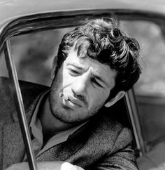 Jean-Paul Belmondo in Pierrot le fou directed by Jean-Luc Godard , Photo by Georges Pierre Andy Garcia, French Movies, Jean Luc Godard, Actor Studio, Alain Delon, Robert Redford, Famous Faces, Old Hollywood, Movie Stars