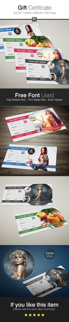 Gift Certificate on Behance