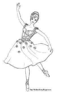 barbie coloring pages - Ballerina Coloring Pages Kids