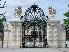 Gate at Upper Belvedere Palace in Vienna, Austria