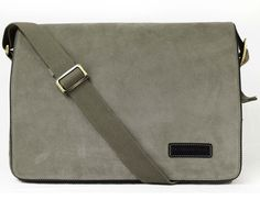 Manhandled Suede Messenger Bag for men - Grey messenger bag for laptops & ipad
