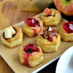 Baked Brie Bites  3 Ways. Delicious when using grapes!