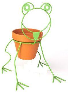 Frog Planter Pot Holder Panacea http://www.amazon.com/dp/B00FGPZJ0A/ref=cm_sw_r_pi_dp_cFpMub0NMDPF2