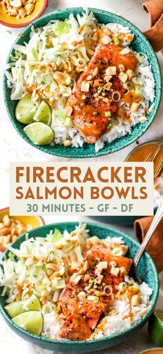 Pescatarian Recipes, Vegetarian Recipes, Healthy Recipes, Healthy Shrimp And Rice Recipe, Healthy 30 Minute Meals, Simple Healthy Dinner Recipes, Recipes Dinner, Salmon Recipes, Fish Recipes