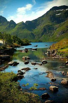 River in lofoten islands