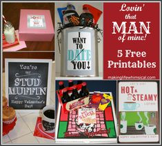 5 Free Printables: Lovin' That Man of Mine!