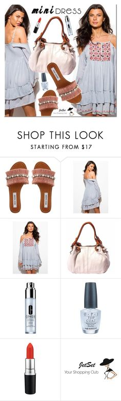 """""""Mini dress"""" by mada-malureanu ❤ liked on Polyvore featuring Steve Madden, Clinique, OPI and MAC Cosmetics"""